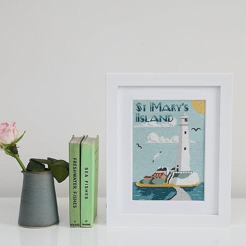 St Mary's Lighthouse Embroidery Stitch Kit