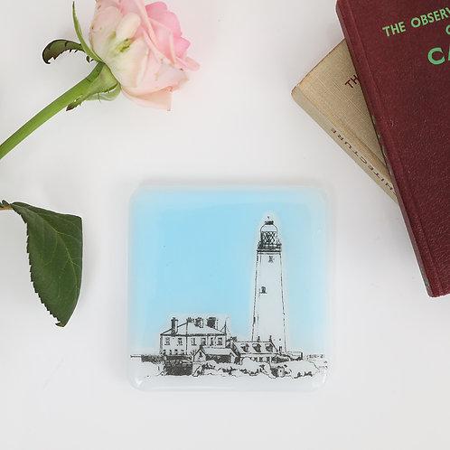 St Mary's Lighthouse Glass Coaster