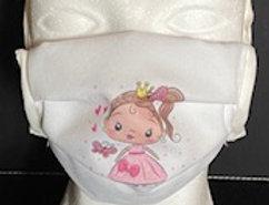BMNS-Maske, hochwertig, 2-lagig  (Behelfs-Mund-Nasen-Schutz) Design Prinzessin