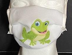 BMNS-Maske, hochwertig, 2-lagig  (Behelfs-Mund-Nasen-Schutz) Design Frosch