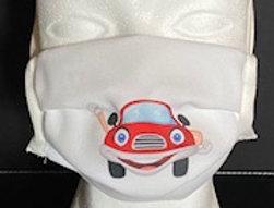 BMNS-Maske, hochwertig, 2-lagig  (Behelfs-Mund-Nasen-Schutz) Design Auto