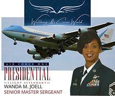 Air Force One Presidential Flight Attendant Senior Master Sergeant Wanda M. Joell