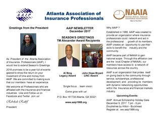 AAIP Newsletter | December 2017