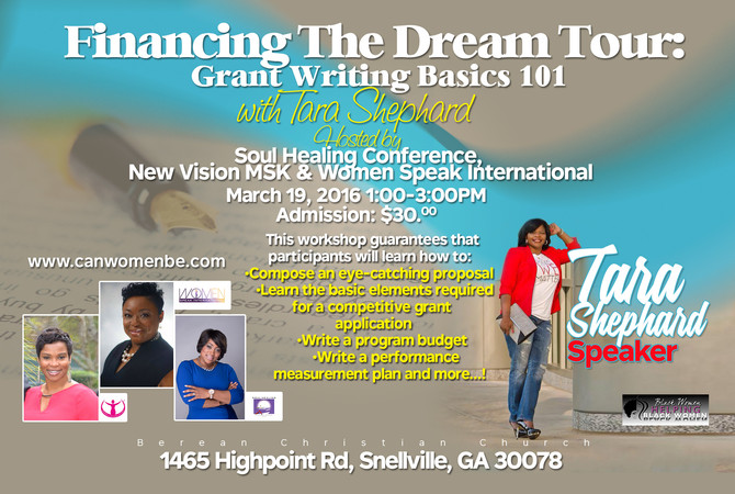 Financing The Dream Tour: Grant Writing Basic 101
