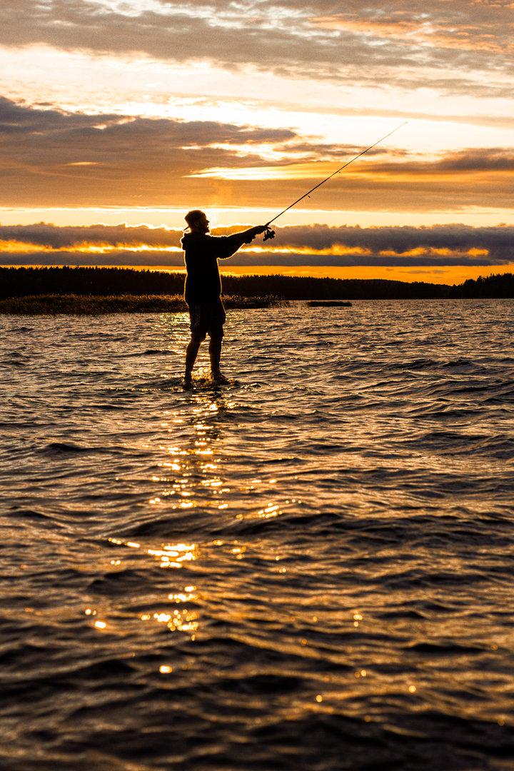 Fishing in the Midnight Sun