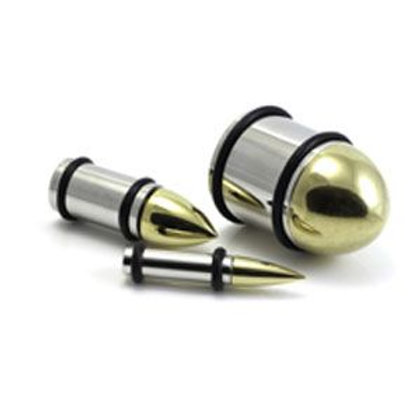 1x Steel and Brass Bullet Plug
