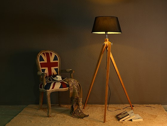 Floor Lamp FL05 ( Solid Wood)
