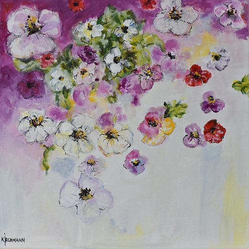 fluttering violets