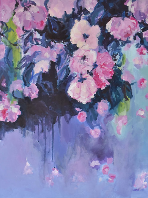 roses over water II