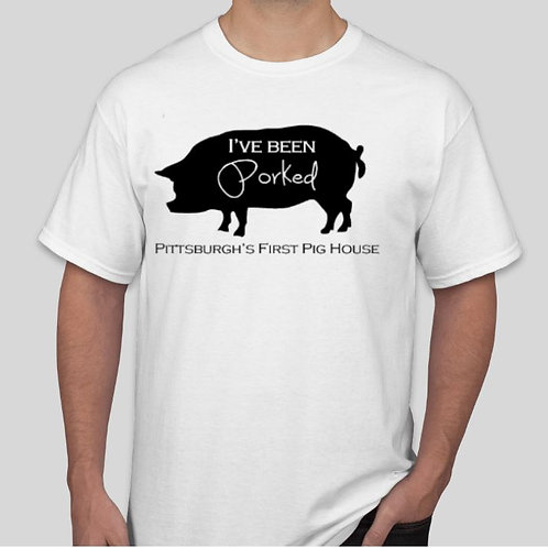 I've Been Porked: White with Black Lettering