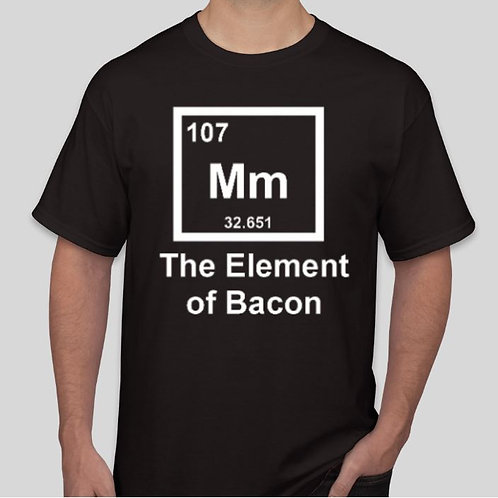 The Element of Bacon: Black with White Lettering