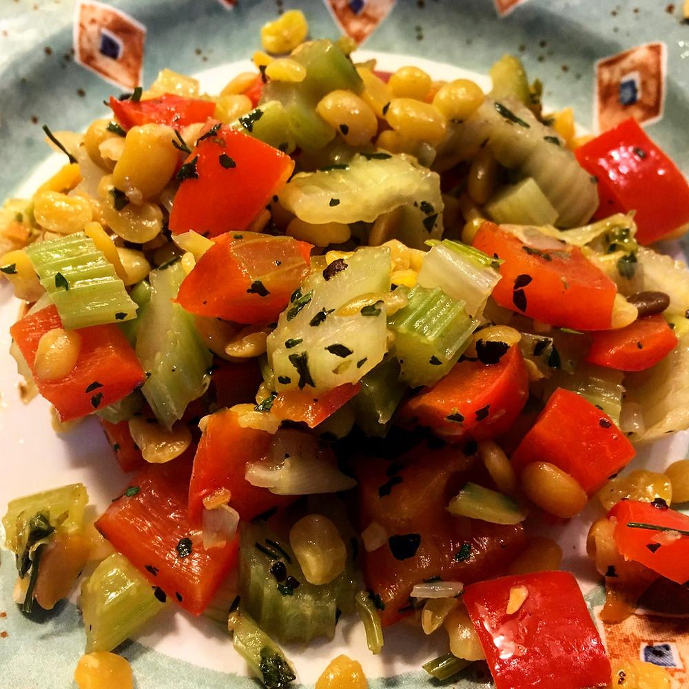 Lupinen-Sellerie-Gemüse fuer gruene Tage