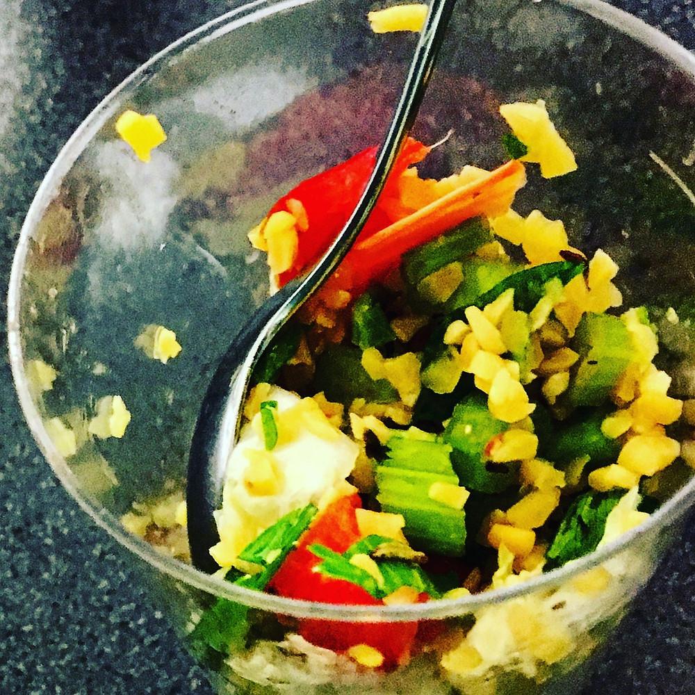 Lupinenschrot-Salat