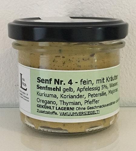 Kräutersenf salzfrei im Glas