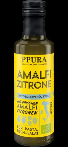 Ppura Bio Olivenöl mit Amalfi Zitronen 100 ml