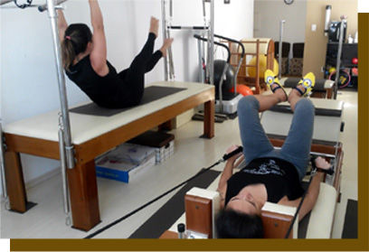 Alunas do Pilates Ponto Norte em aulas no Cadilac e no Reformer