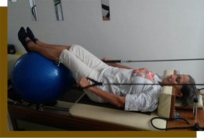 Aluna do Pilates Ponto Norte no Reformer