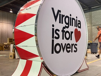 Virginia-Filmed Wonder Woman 1984 Features Large-Scale Prop with Virginia is for Lovers Logo