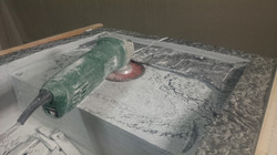 Fabrication évier massif