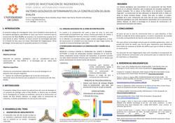 FACTORES GEOLÓGICOS DETERMINANTES EN LA