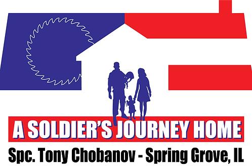 Spc. Tony Chobanov Build Bumper Sticker