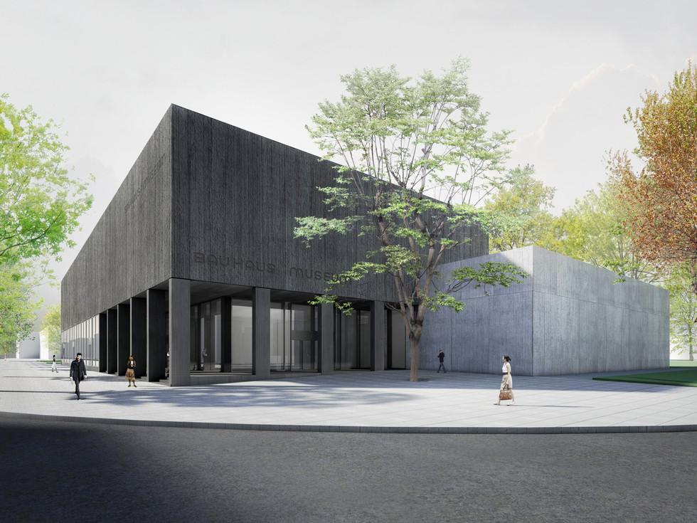 Wettbewerb Bauhausmuseum Dessau © Thomas Stadler