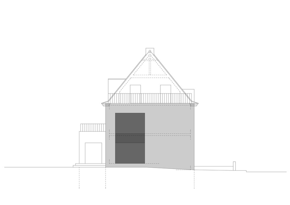 Anbau Düsseldorf Vorstudie © Thomas Stadler