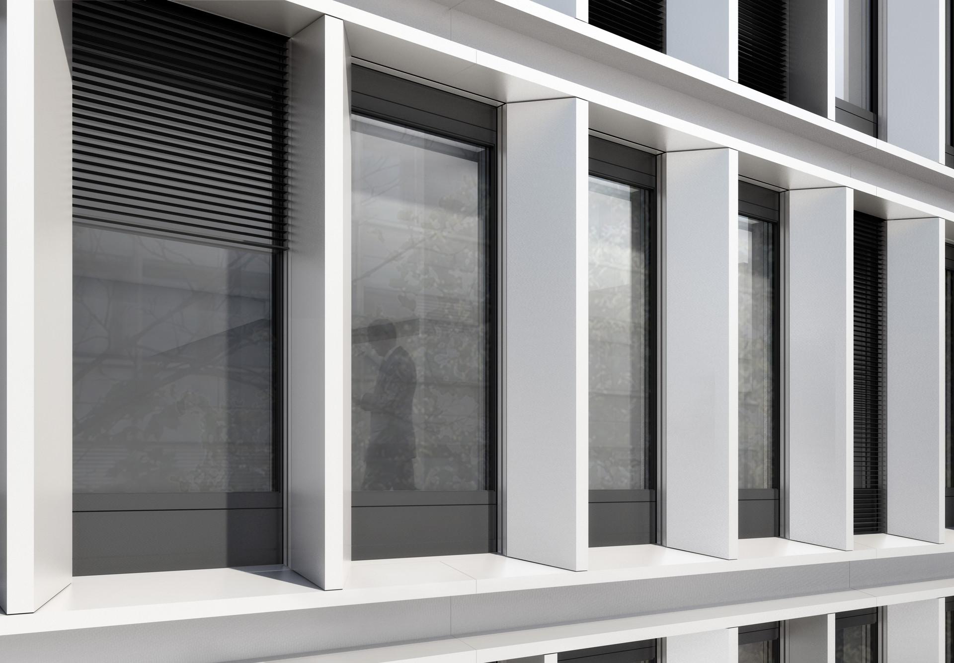 DIN - Gebäude Fassadenwettbewerbhalb © Thomas Stadler