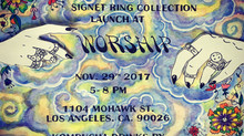 Tati Compton X Hannah Warner Signet ring launch @ Worship LA
