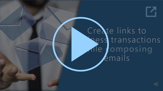 1. Link erstellen beim Schreiben einer E-Mail