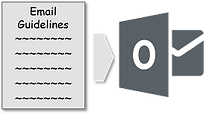 Add e-mail guidelines to Outlook