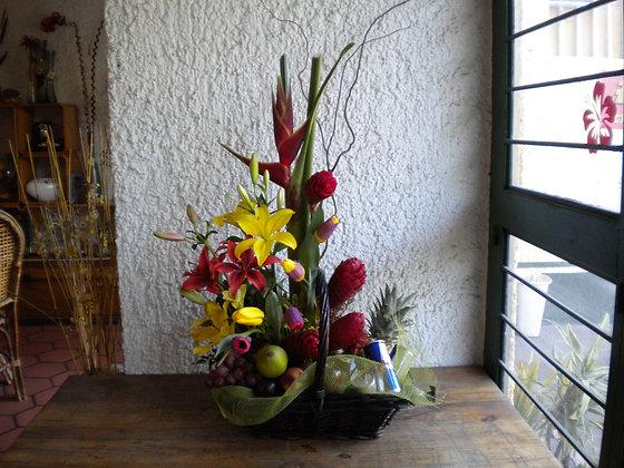 Canasta Tulipones y Whisky