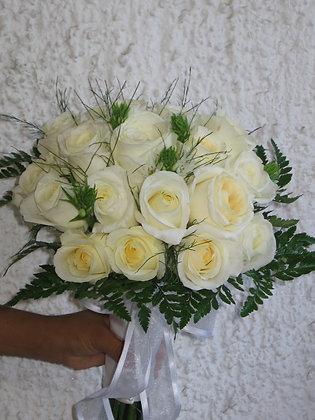 Ramo 24 rosas blancas