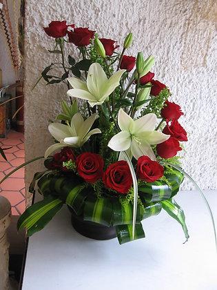 Cascada Lilys y rosas