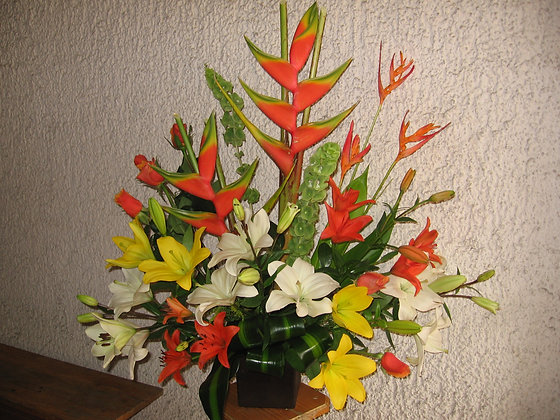 Lilys y heliconias