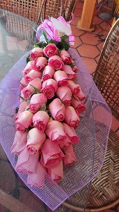 bouquete cascada rosas rosas