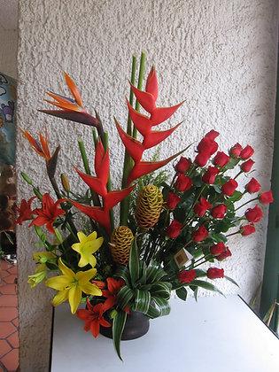24 Rosas + Flores Exóticas