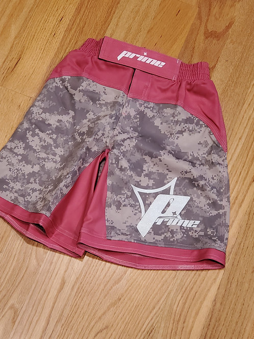 Pink and ACU Camo Fight Shorts
