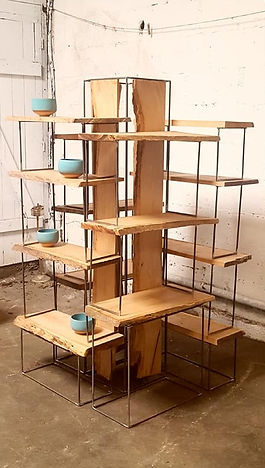 étagère bois métal stand artisan