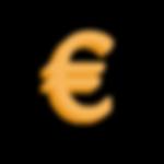 Gelb 3D-Euro-Zeichen