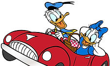 Donald Duck Driving