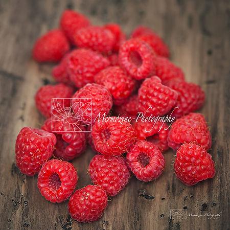 Food photography: raspberries