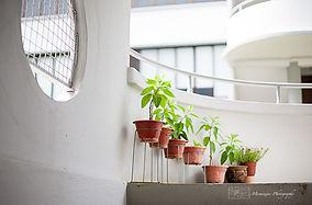 Spiral stairways in Tiong Bahru,Singapore