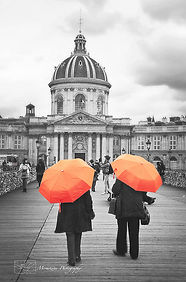 Fine art print of the birdge called Le Pont des Arts, in Paris, France