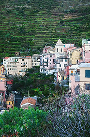 Photograph of Manarola, a village from the Cinque Terra in Italy.