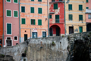 Photograph of a village from the Cinque Terra in Italy.