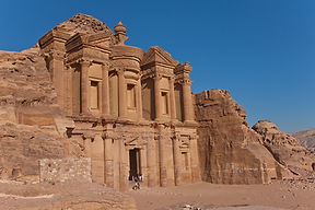 Photograph of the monument called the Monastery, in he ancient city of Petra,Jordan.
