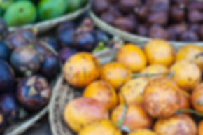 Fresh fruits on a marketin Ubud, Bali.