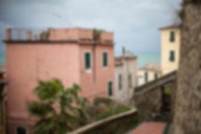 Streets of Manarola, Cinque Terre, Italy.
