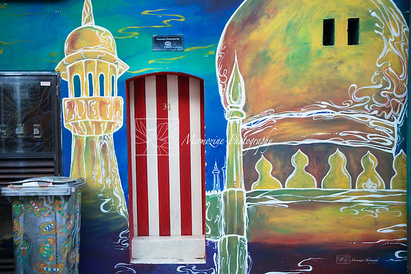 Sultan Mosque Mural, Kampong Glam, Singapore.